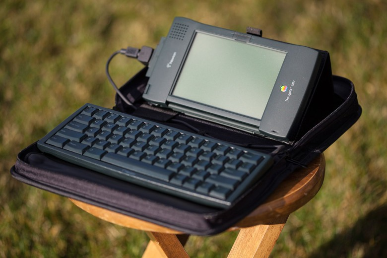A MessagePad made to work with a keyboard.