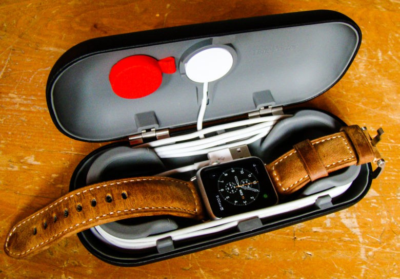 Gather all your Apple Watch stuff with this clever case from Twelve South.