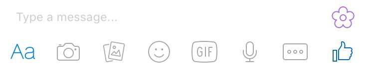 Facebook Messenger flower button