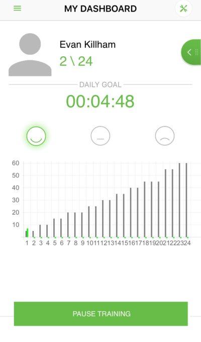 Upright posture tracker app