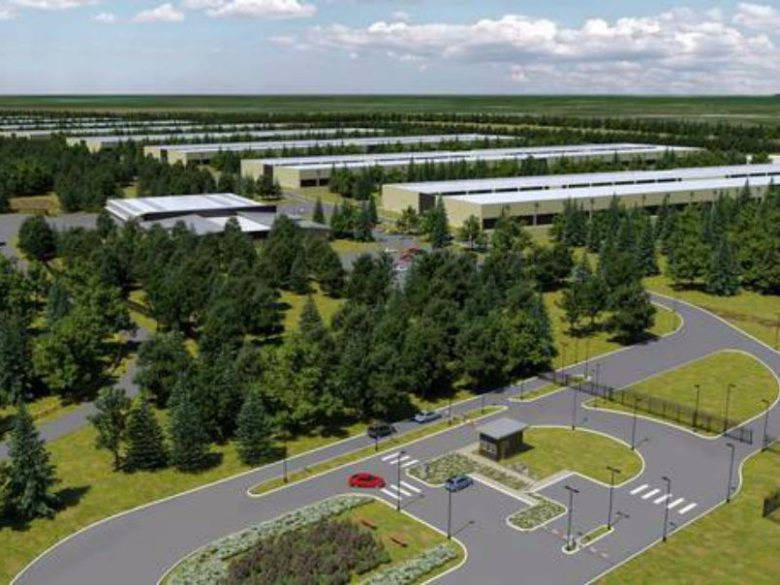 A mock up of Apple's proposed data center in Ireland.