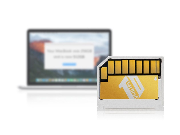 TarDisk adds 64GB of flash storage to your MacBook Air via the SD slot, without changing its slim profile.