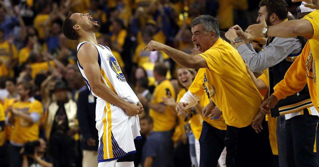 Eddy Cue had the best seats in the house to watch the Warrior's comeback.