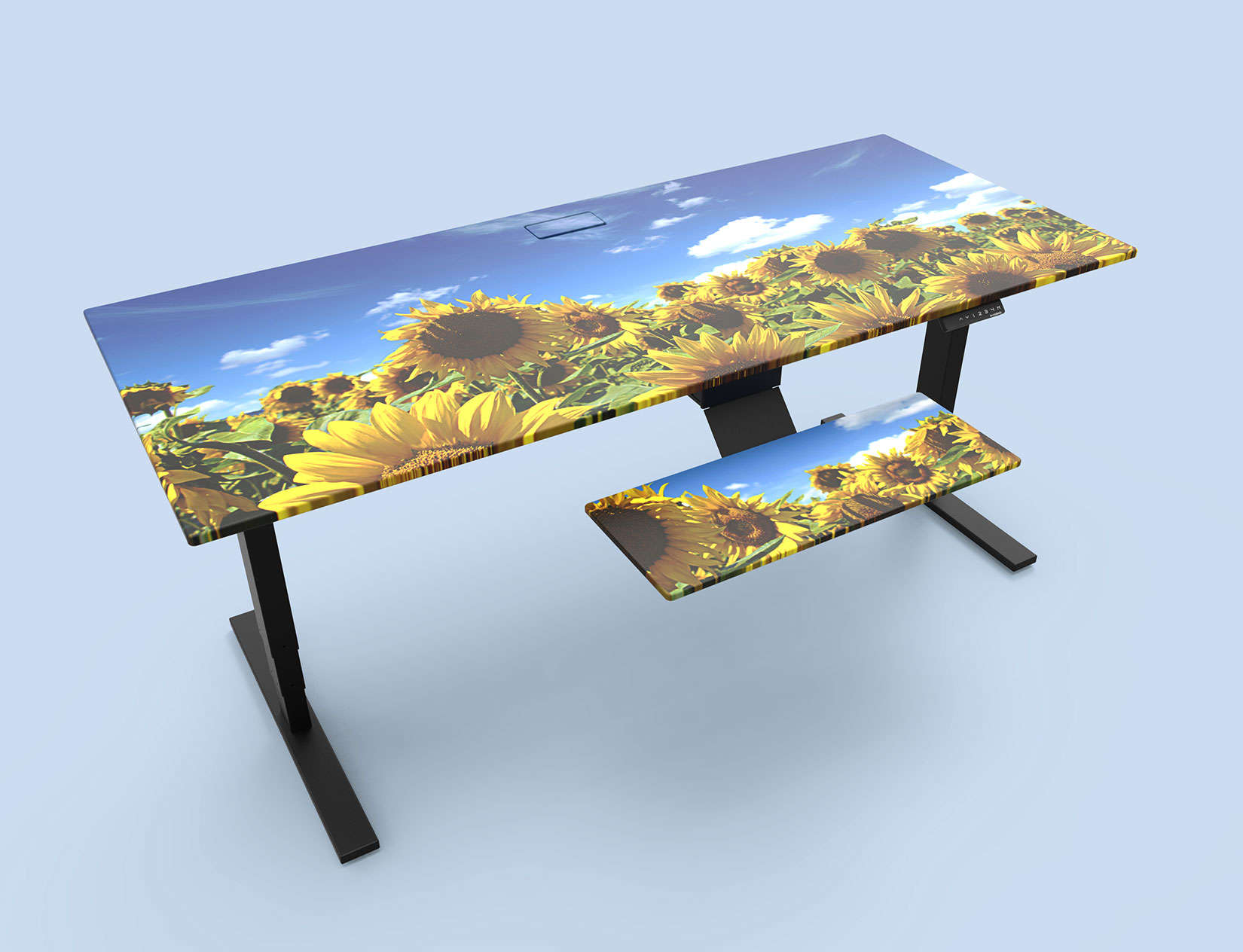 This standing desk cover will make you feel like you are working in a field of sunflowers.