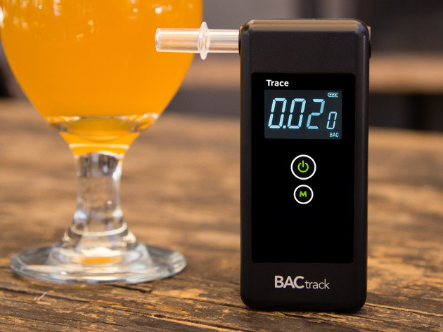 This award winning breathalyzer will give you a quick, accurate BAC reading.