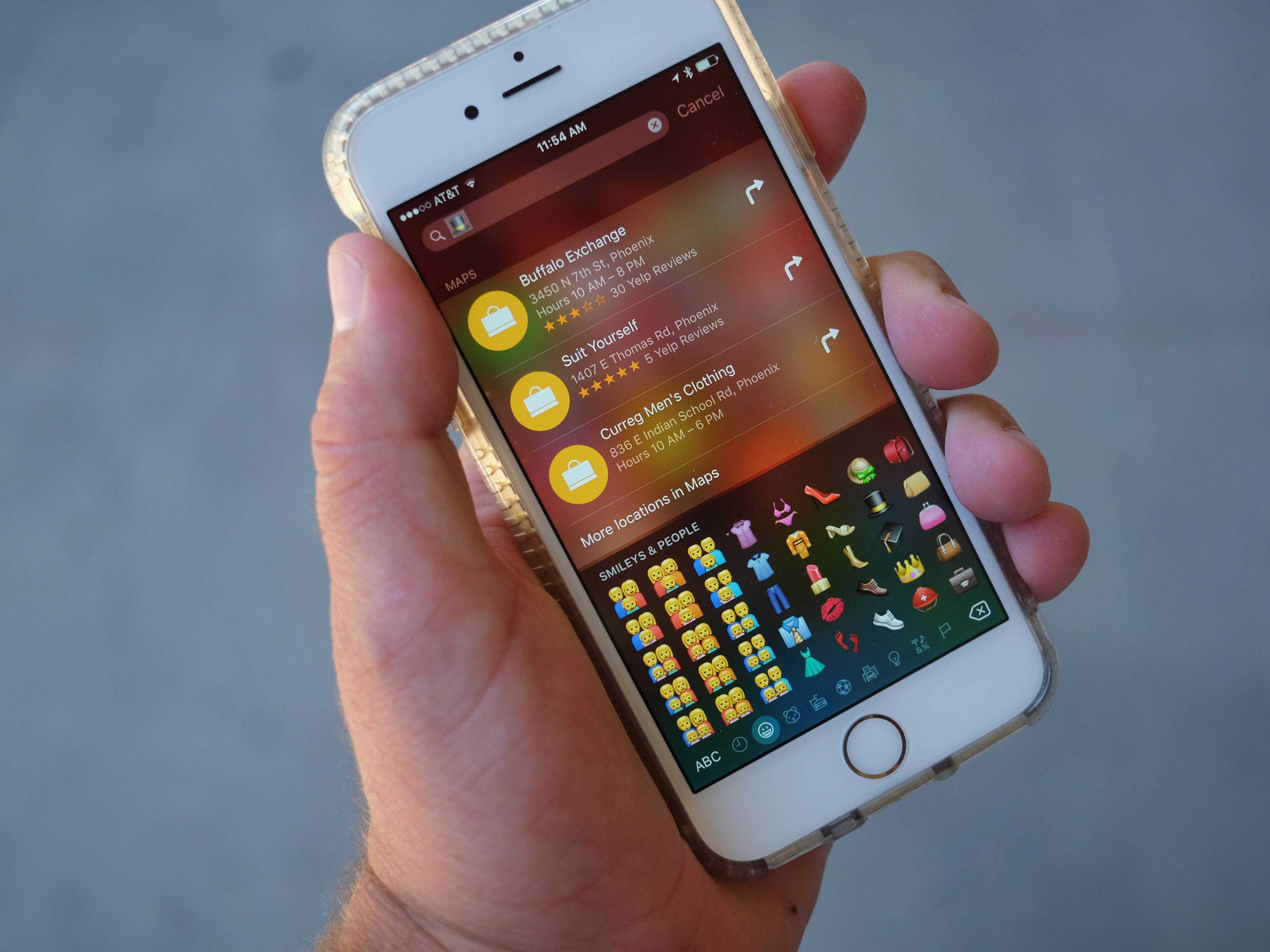 Yes, you can use emoji on iPhone search.