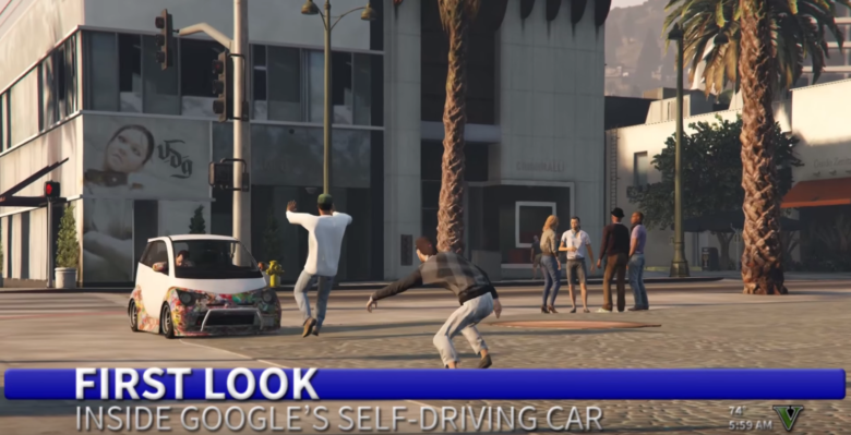self-driving-google-car-mows-down-poor-pedestrians-in-joke-ad-2-image-cultofandroidcomwp-contentuploads201605Google-car-rampage-png