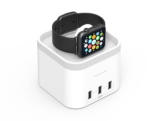 Wirelessly charge your Apple Watch, and up to 4 USB devices all at once.