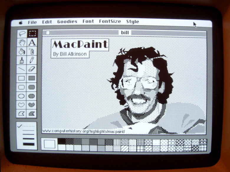Bill Atkinson portrait MacPaint