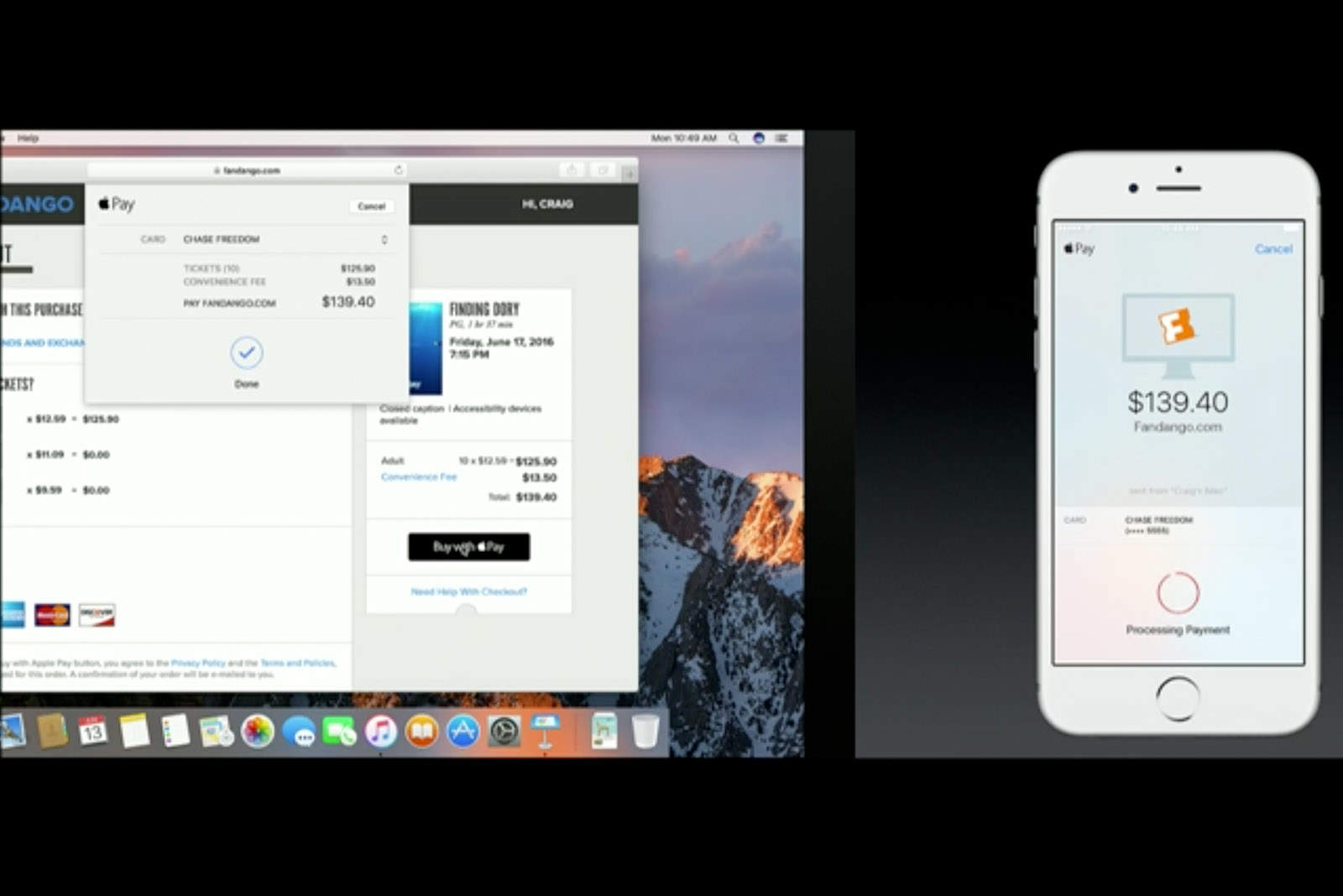 Apple Pay in your web browser.
