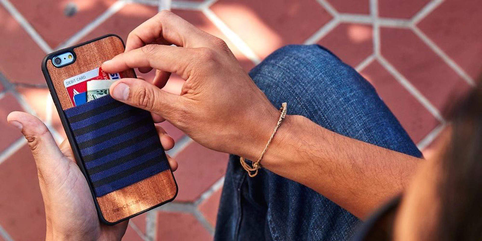 Combine your wallet and phone with this classy case that also carries your cards.