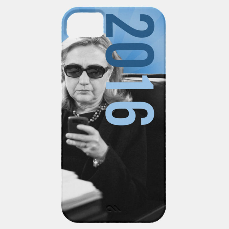 Hillary Clinton's iPhone and private email server has been a subject of the campaign.