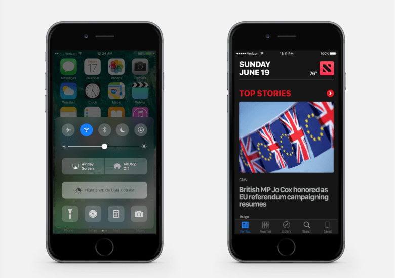 Turning out the lights in iOS 10.