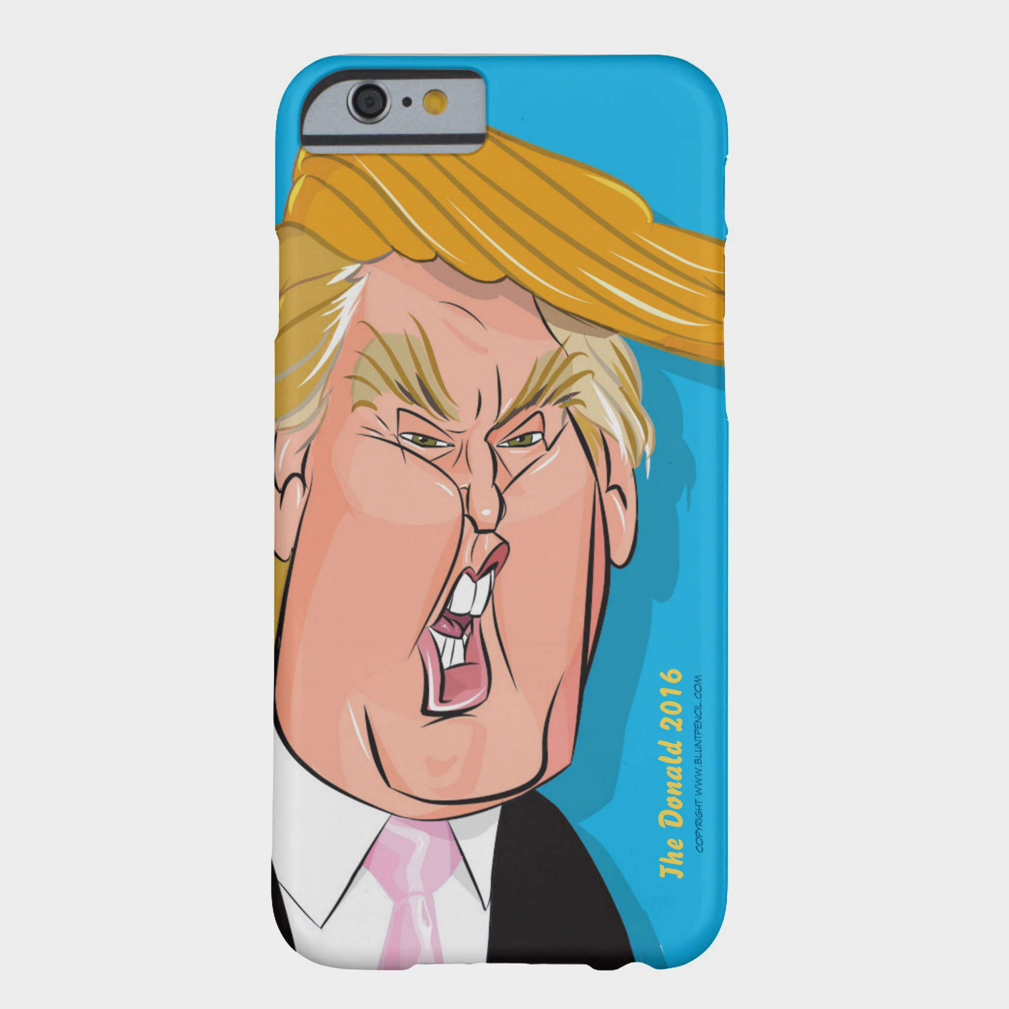 If you comb over the many smartphone cases at Zazzle, you will find this caricature of Donald Trump.