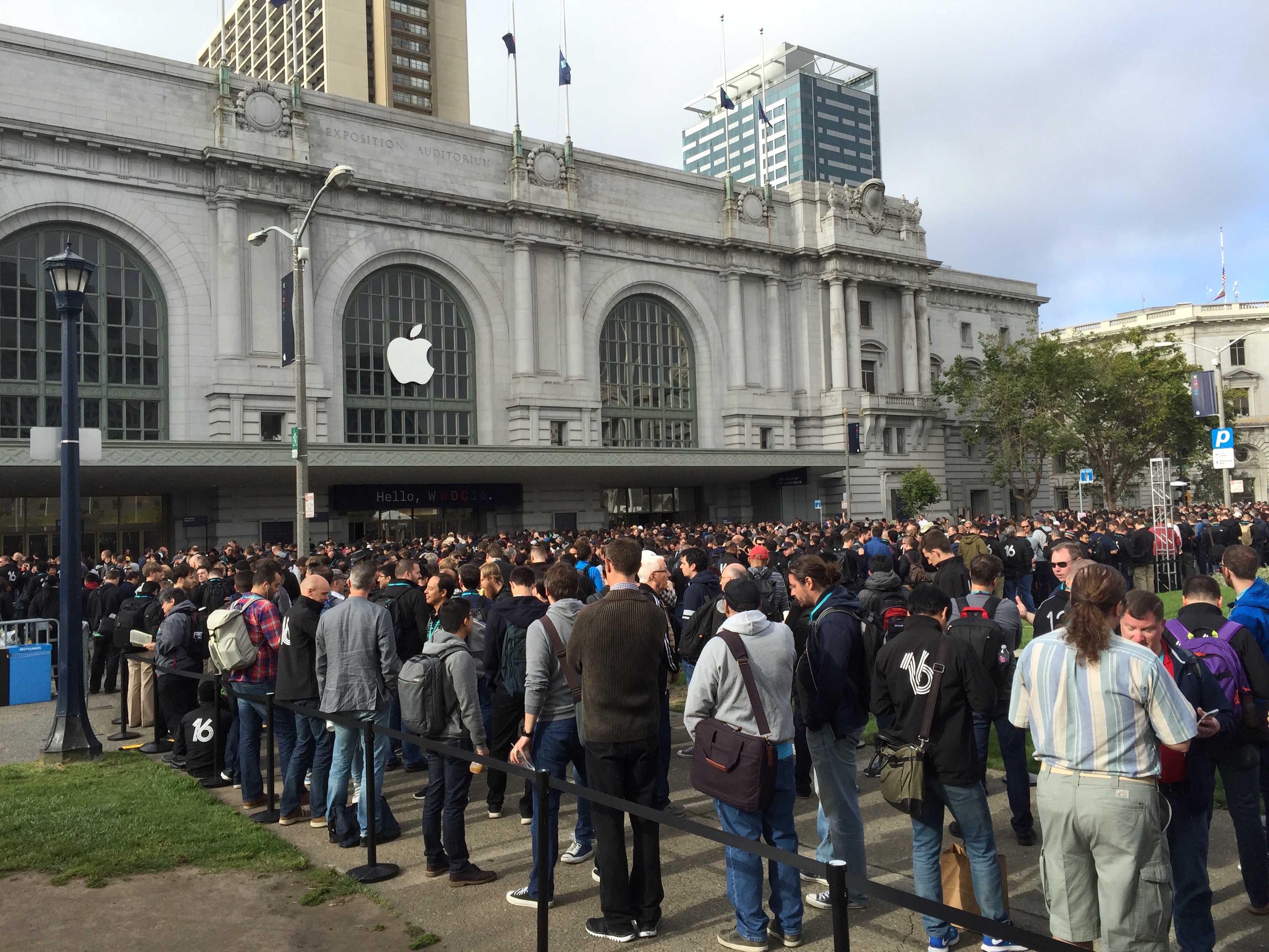 Apple has taken over Bill Graham Auditorium.