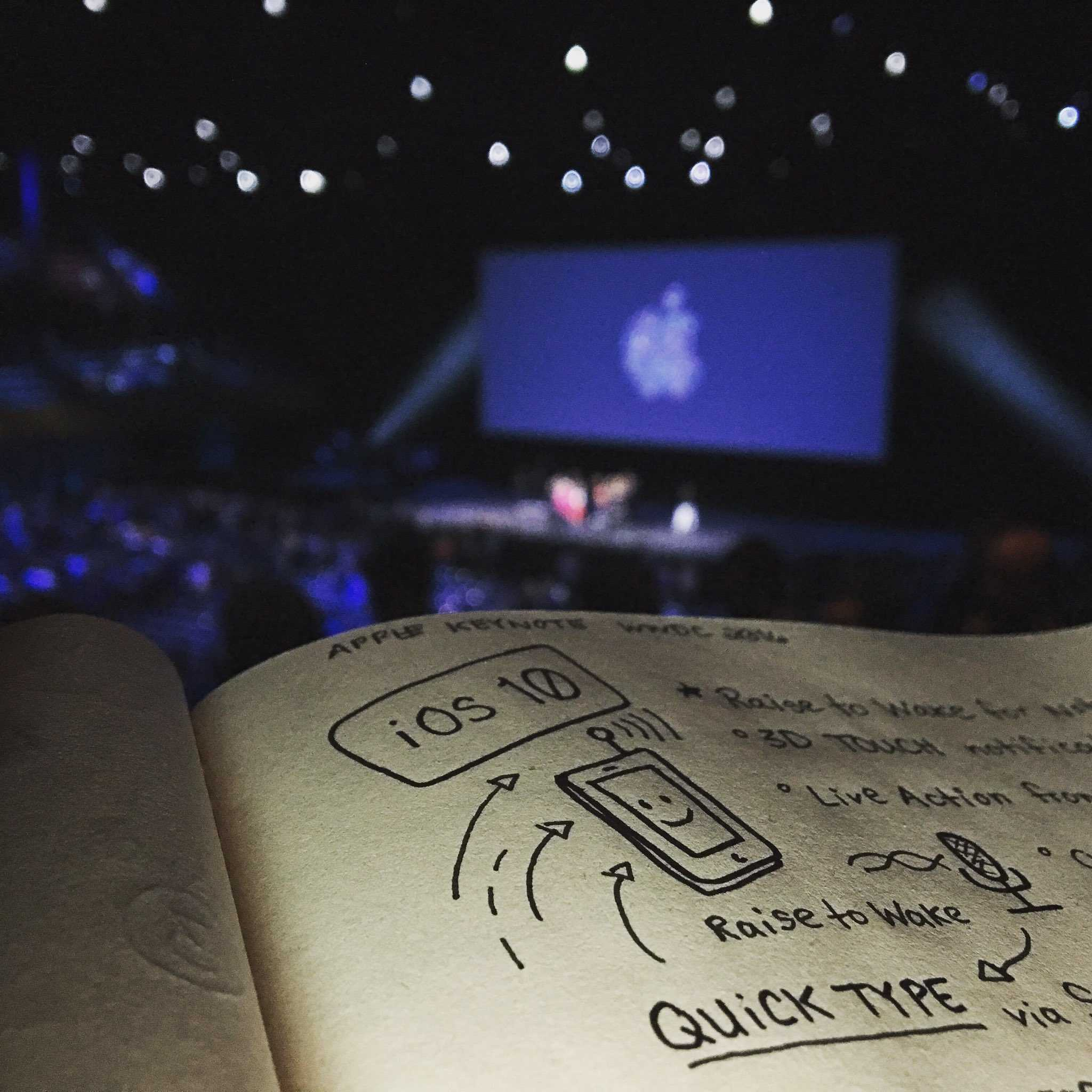 Doodler Andy McNally took visual sketchnotes at WWDC 2016