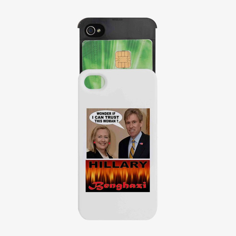 The Benghazi tragedy in an iPhone case.