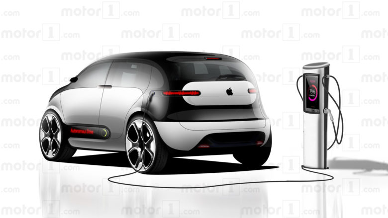Charging the Apple Car.