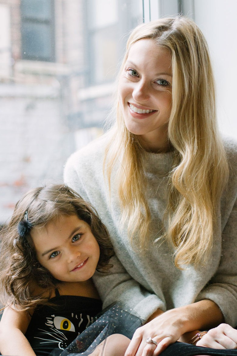 Hello Sitter CEO Lauren Mansell with daughter, Ady.