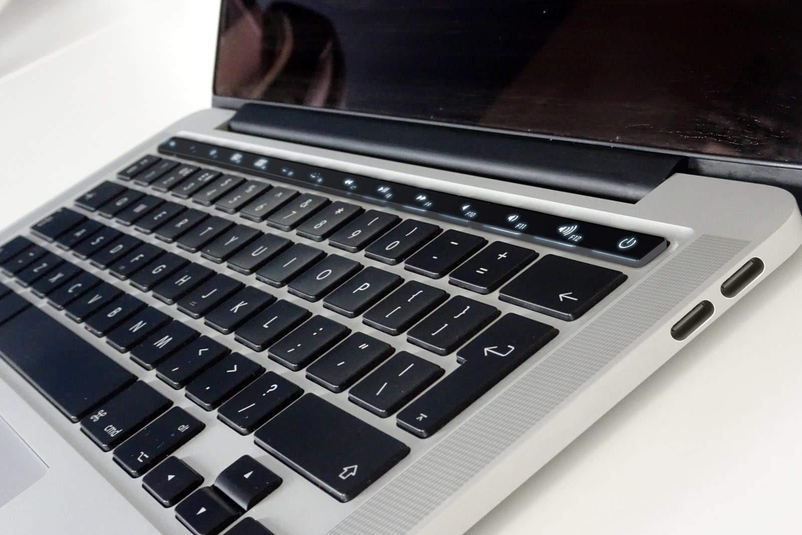 MacBook Pro OLED mockup
