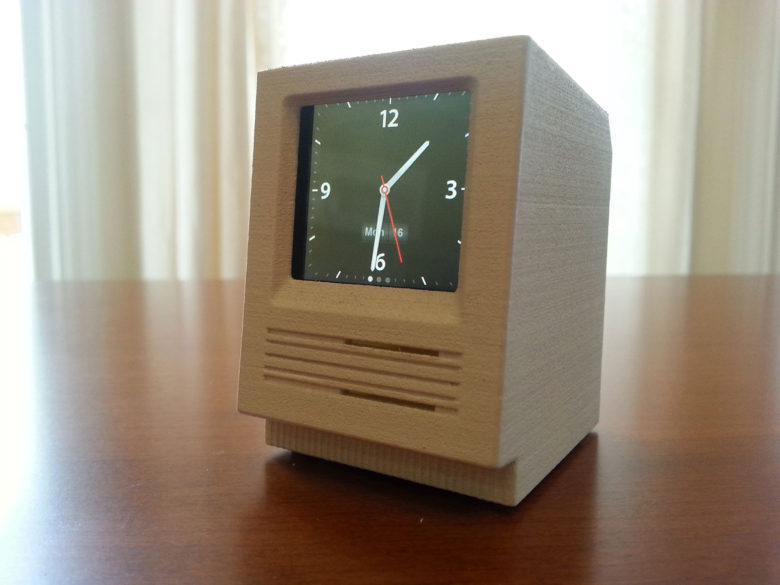 Mangin makes Macs that hold either an iPod Nano or Apple Watch.
