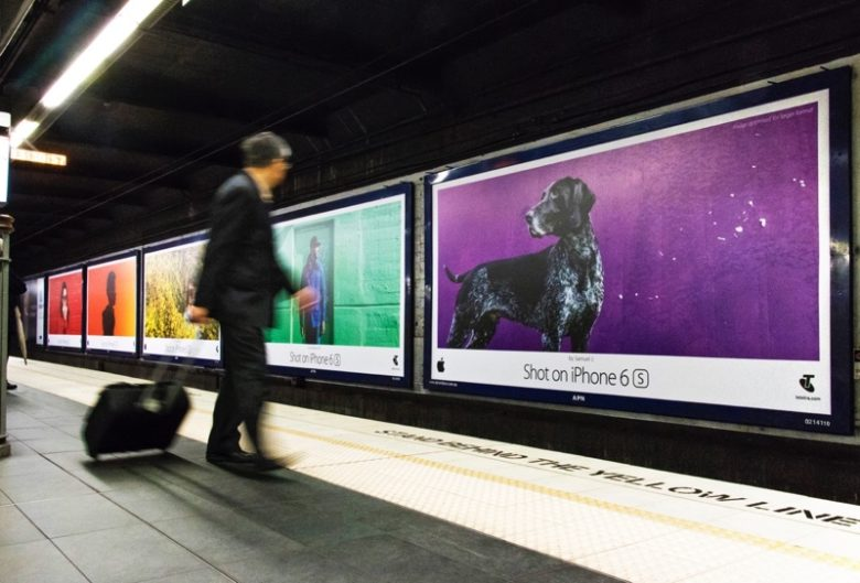 Shot on iPhone ads at a subway in Sydney.