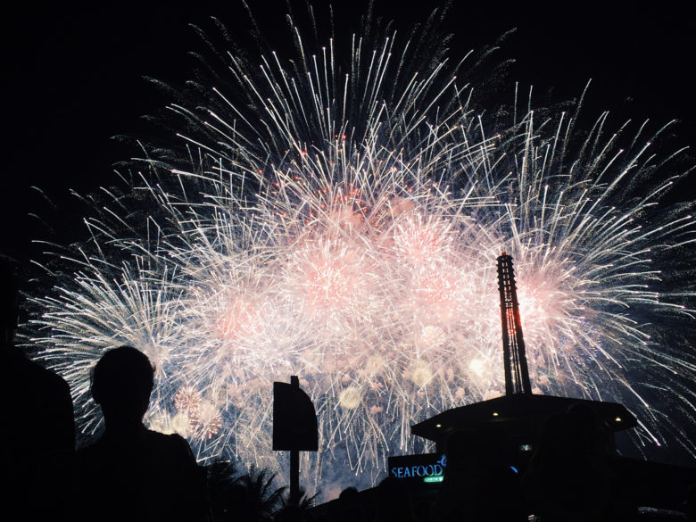 Choose a good location for iphone fireworks photos