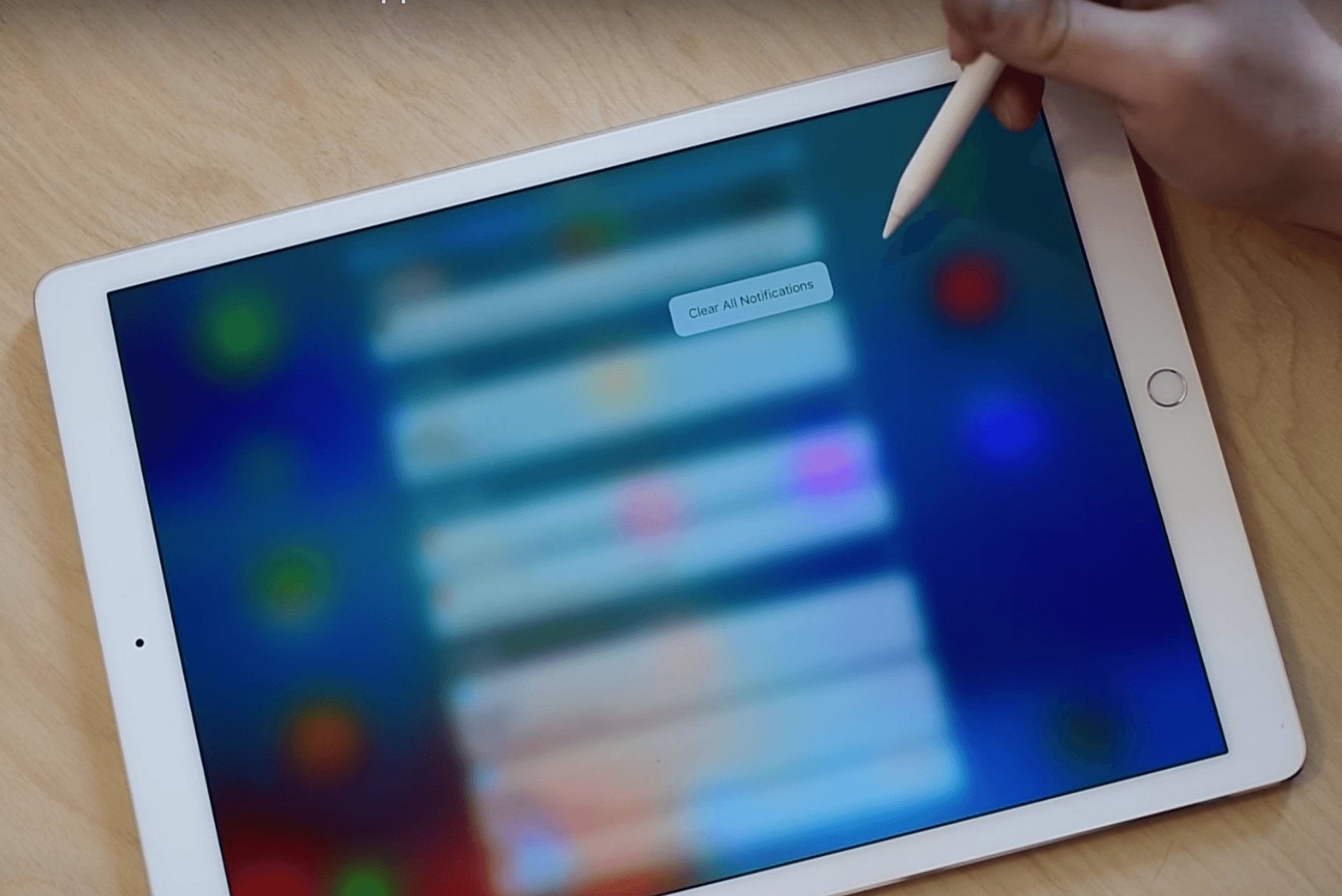 3D Touch on iPad Pro