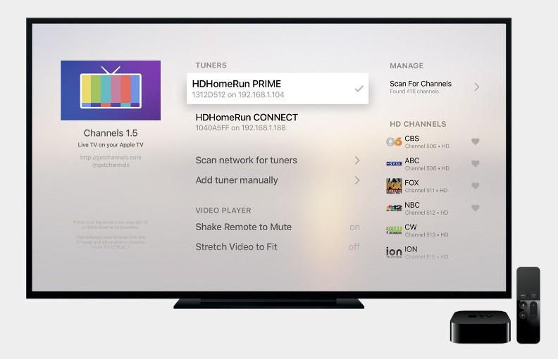 Channels app on Apple TV
