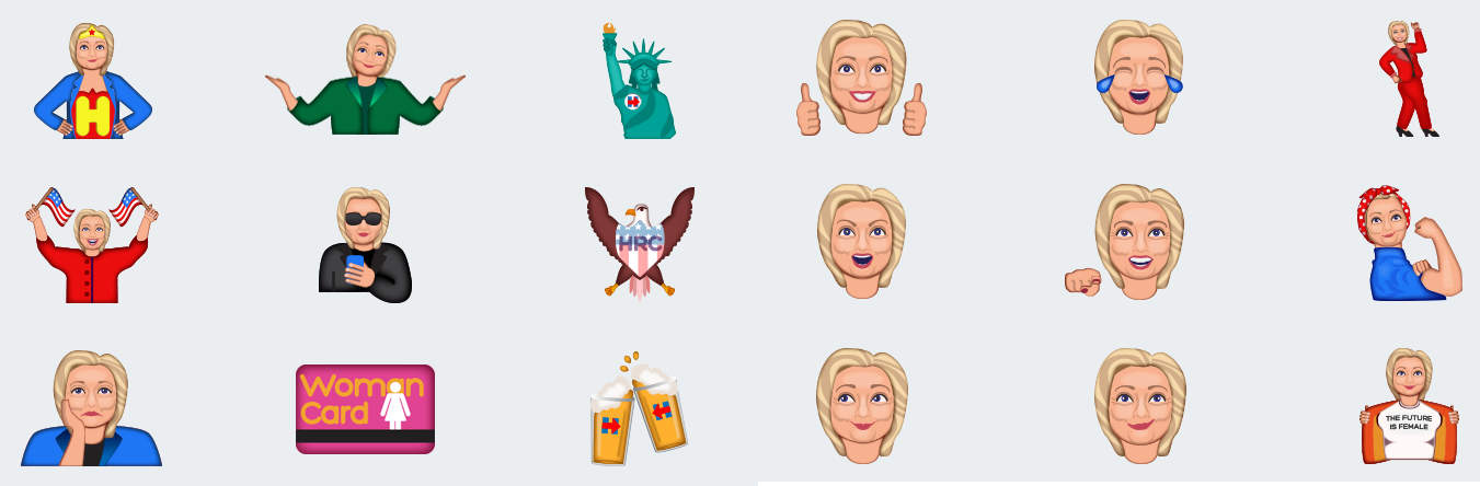 Hillary emojis are ready to slide into your DMs.