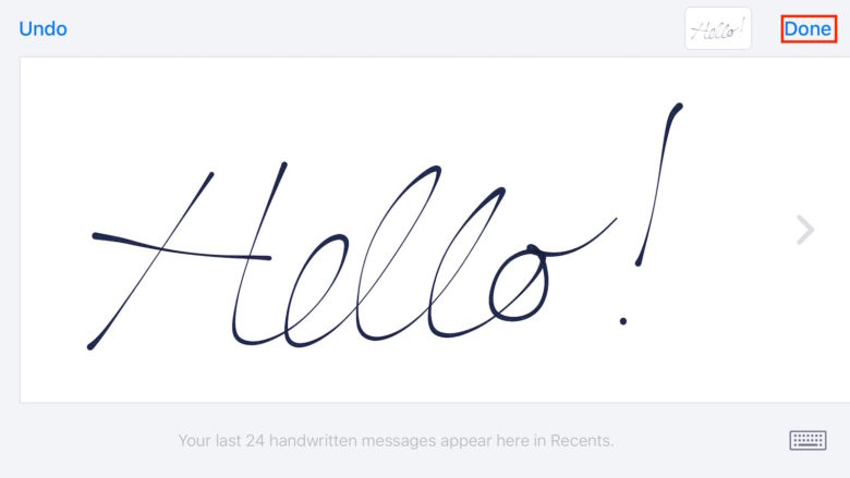 Handwriting Messages iOS 10