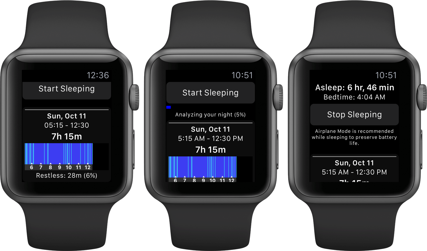 Sleep++ on Apple Watch.