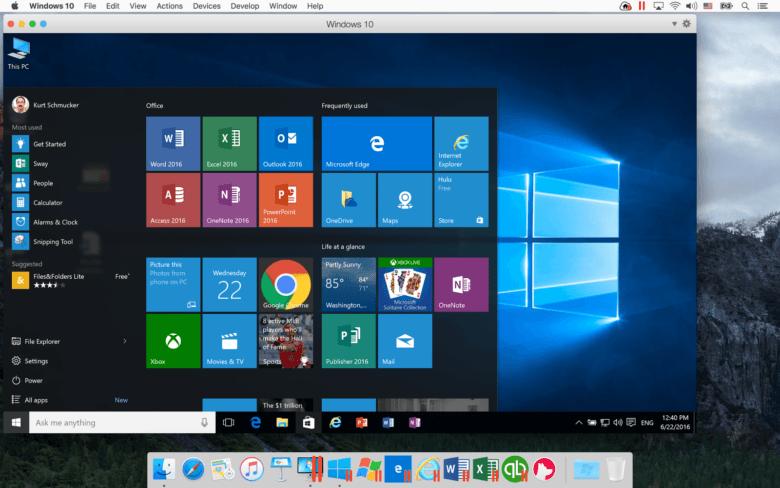 screen dump mac running windows