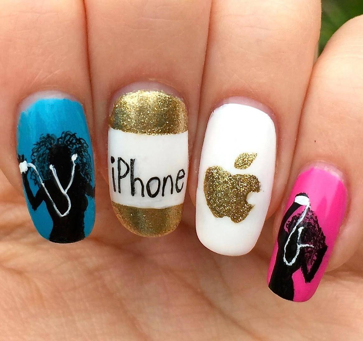 Apple nail art