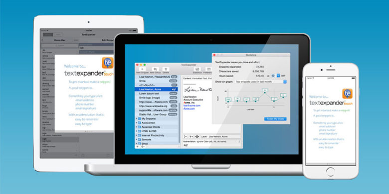 TextExpander is the award winning tool for cutting extraneous typing and boosting productivity