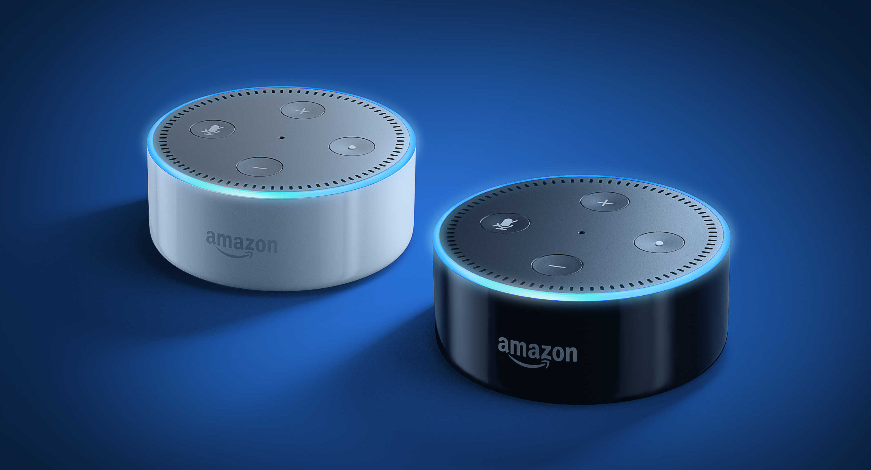 Echo Dot second-generation, black and white