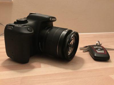 Closeup of a camera.