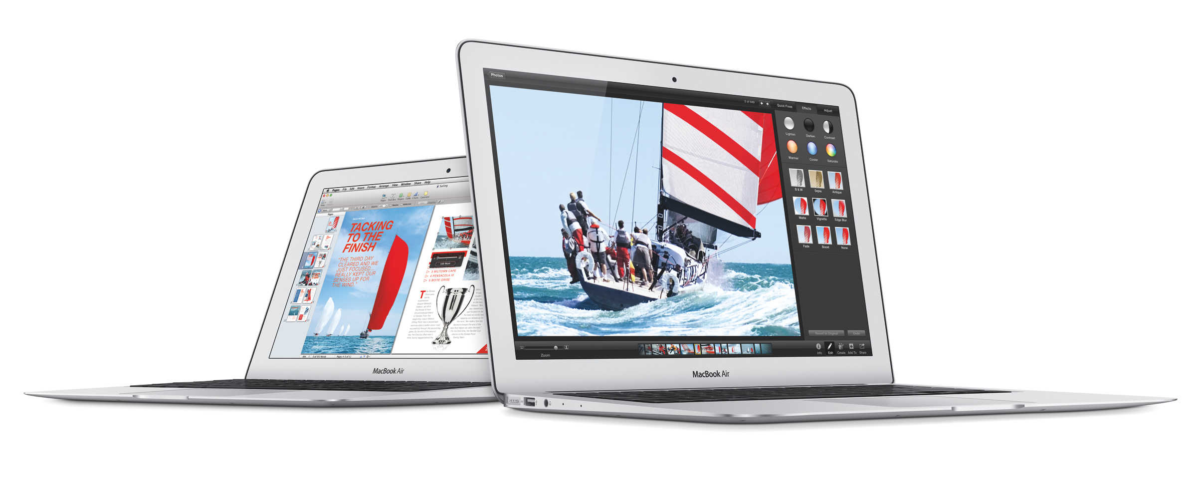 MacBook Air in 11-inch and 13-inch sizes.