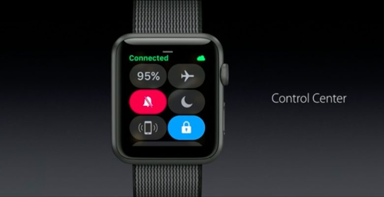 Control Center is now on Apple Watch.