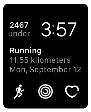 Fitness watch face
