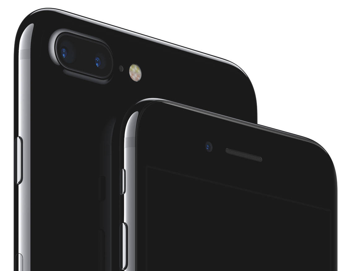 jet black iPhone 7 and iPhone 7 Plus