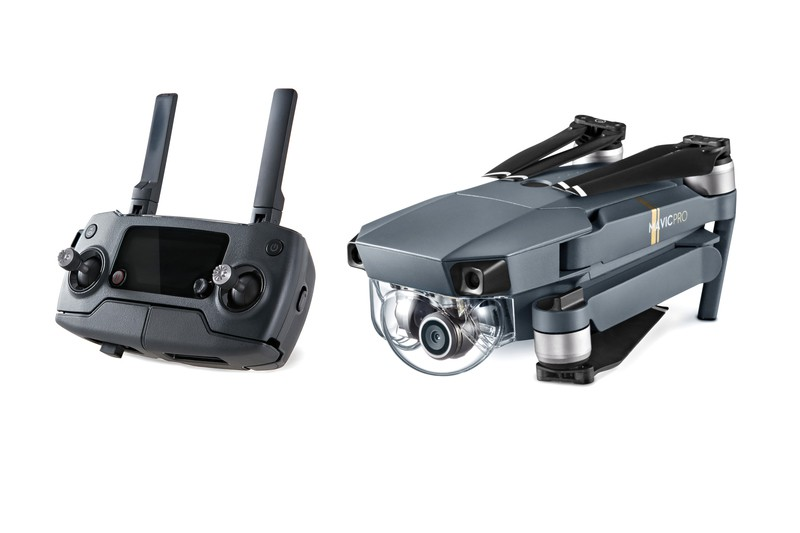 The Mavic Pro can be flown via the included controller or your iPhone.