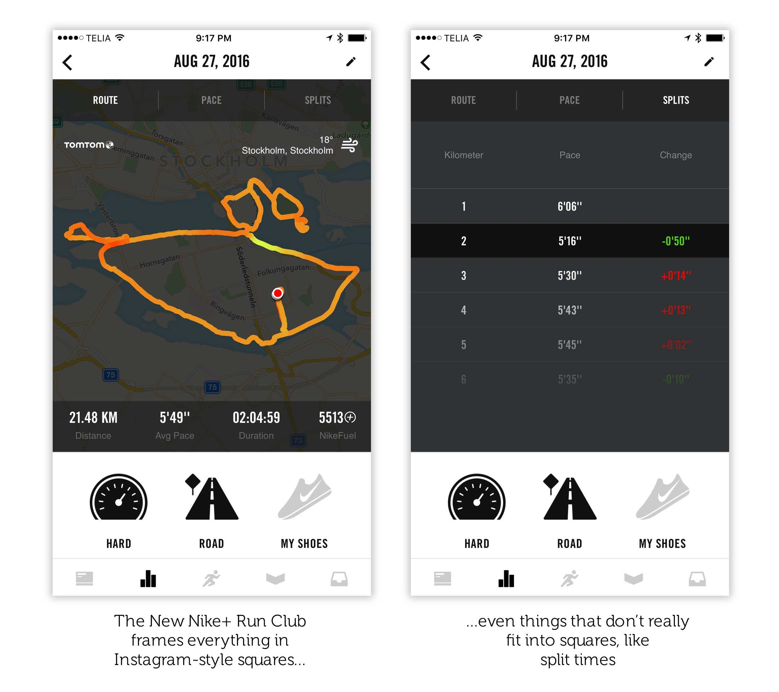 Nike+ Run Club squeezes everything into square frames 867e5e945e58