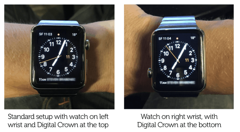 Apple Watch orientation