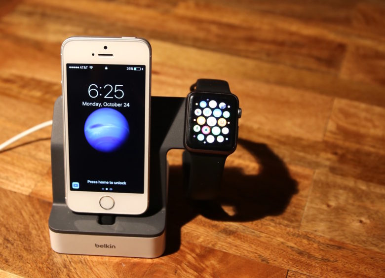 PowerHouse Charge Dock for Apple Watch and iPhone includes a built-in Magnetic Charging Module for Apple Watch.