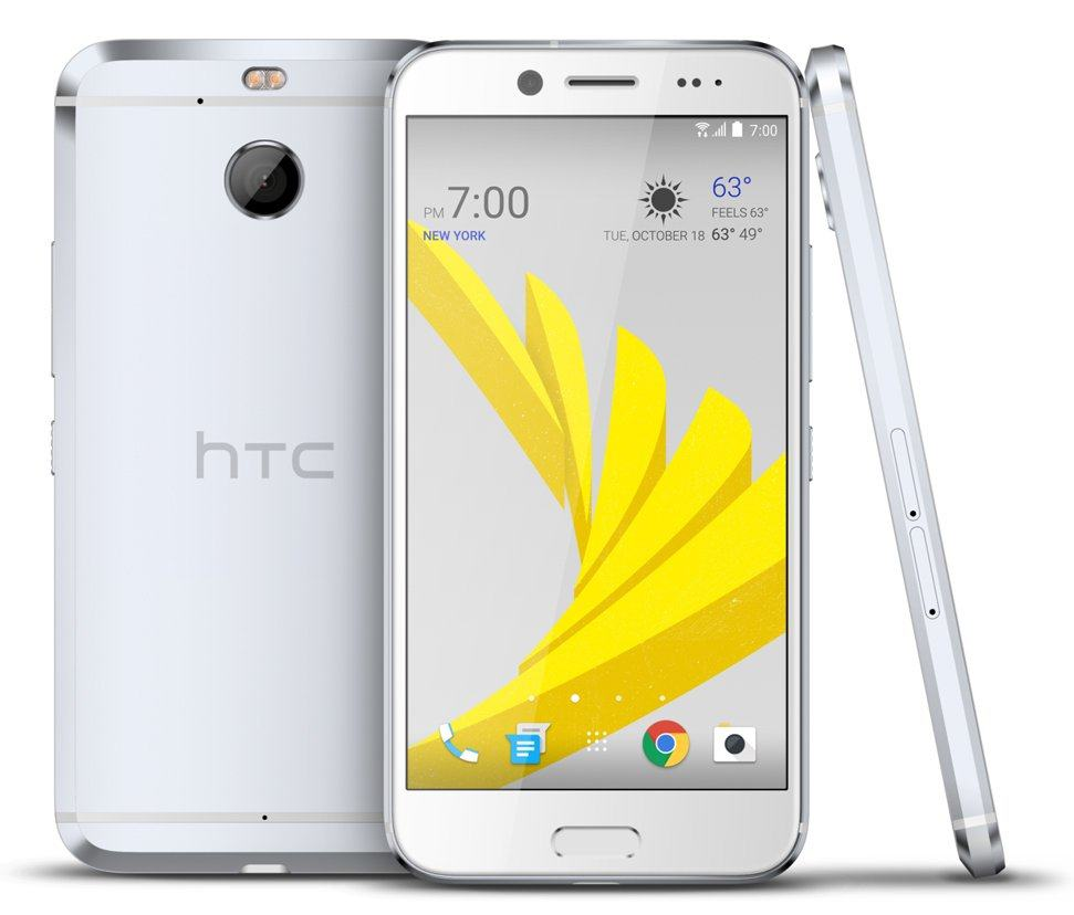 The HTC Bolt in silver.