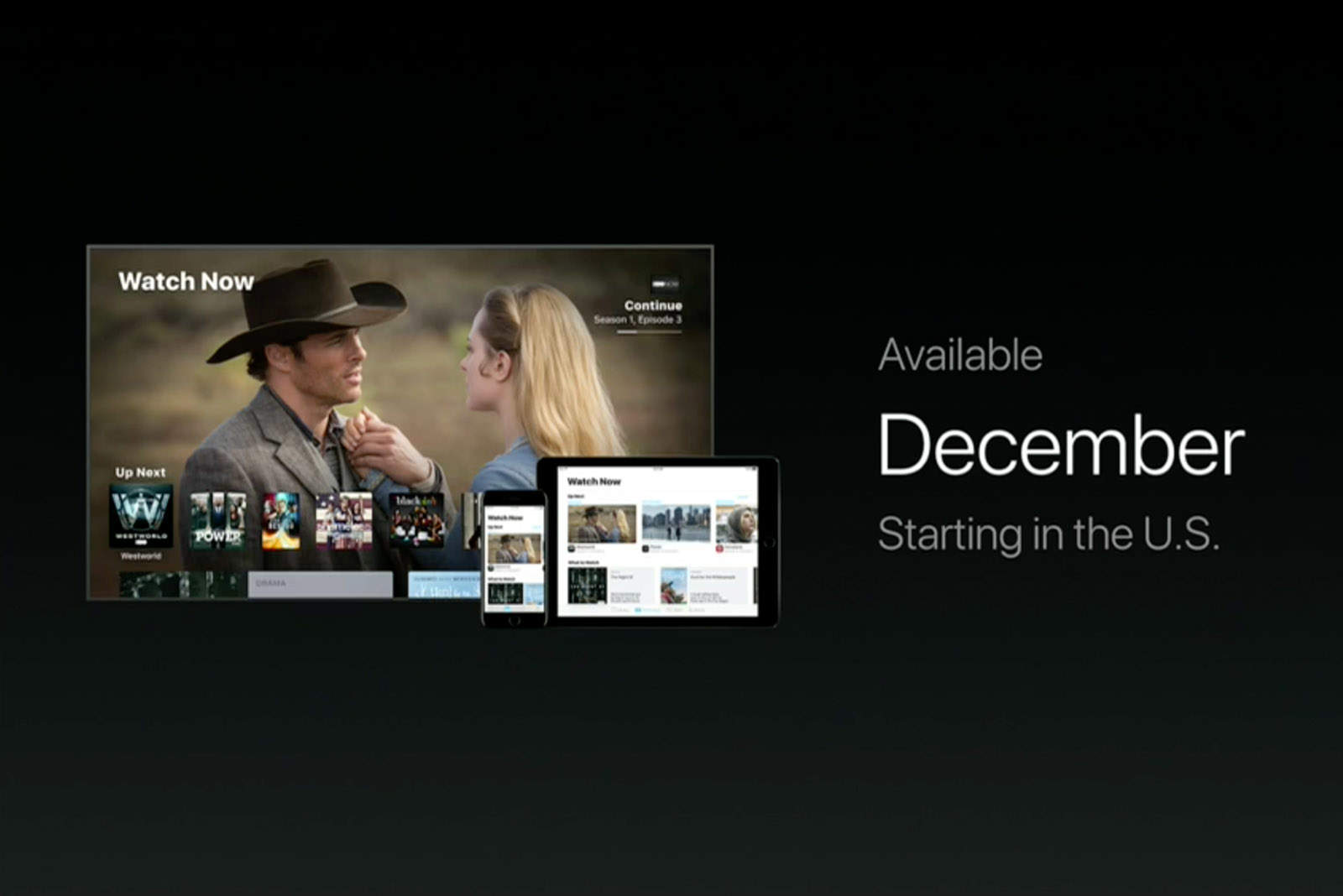 The TV app is set to go public in December.
