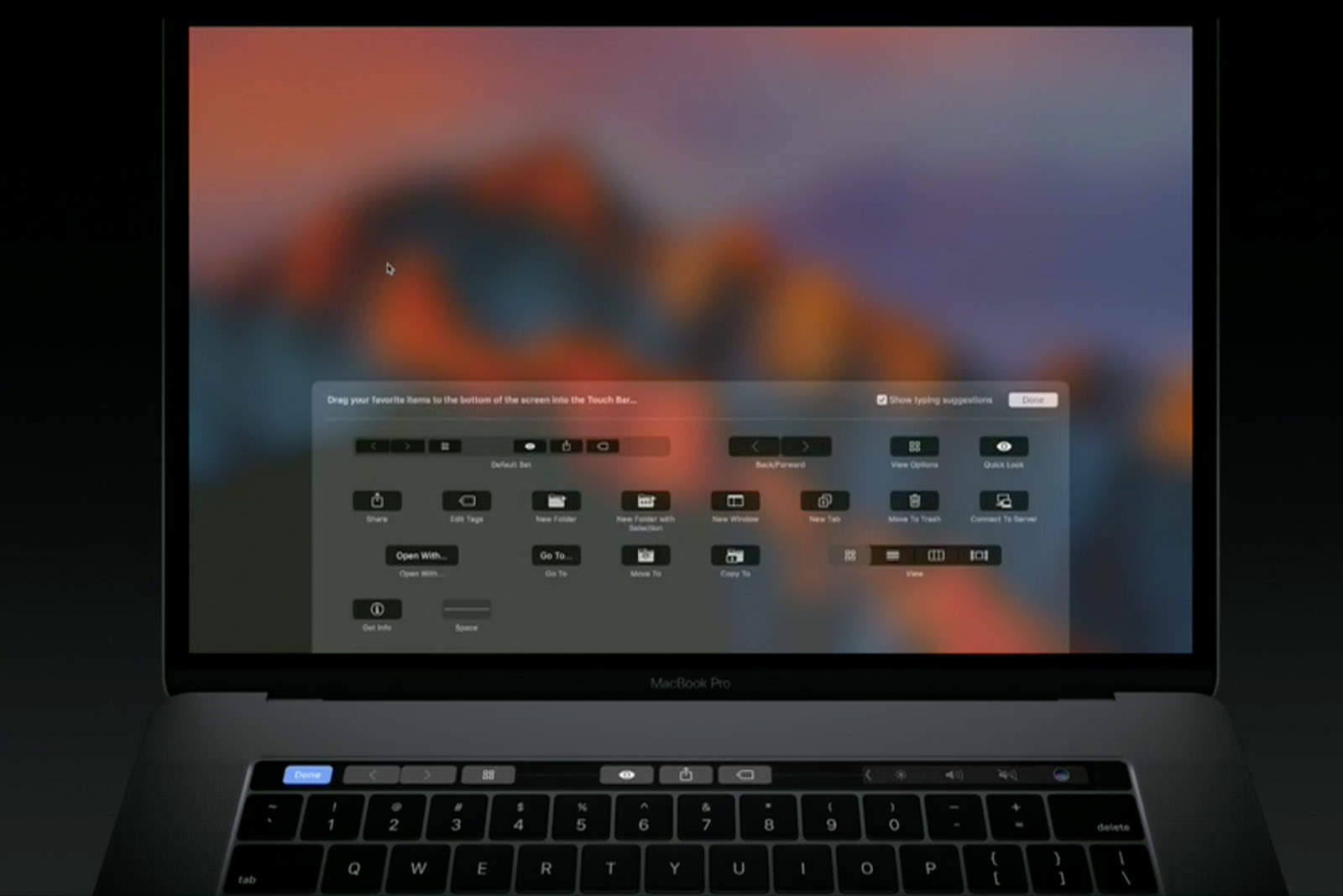 customized touch bar