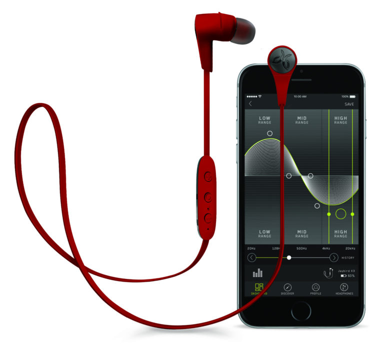 The free MySound app lets you quickly customize the X3 headphones' EQ settings.