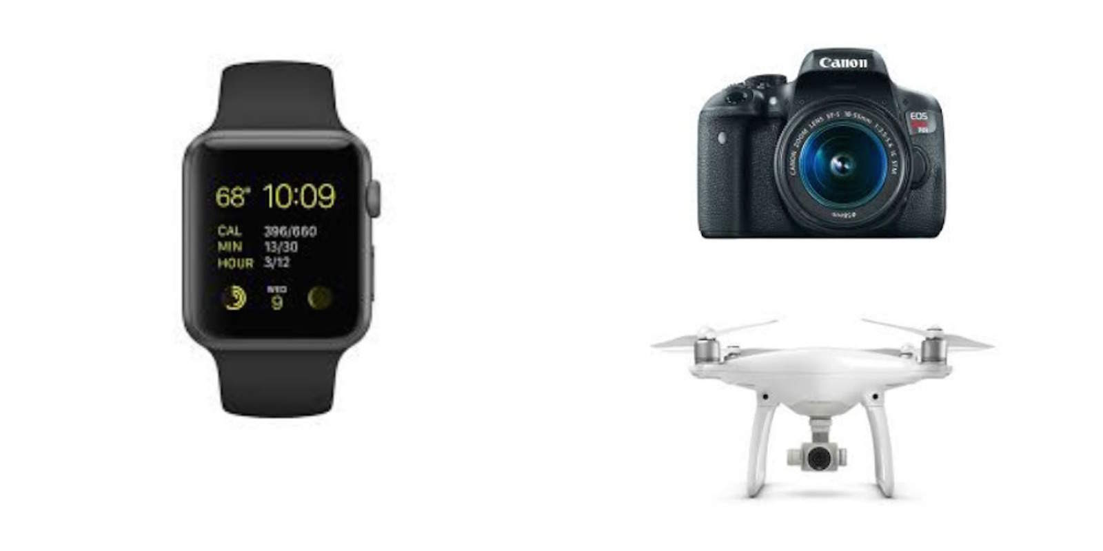 Deals on Apple Watch Sport, the DJI Phantom 4 drone, and a Canon camera highlight this week's best of the internet.
